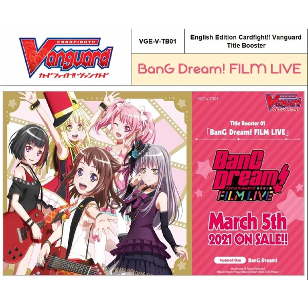 CardFight Vanguard TCG: BanG Dream! FILM LIVE Booster Box (12 Packs)