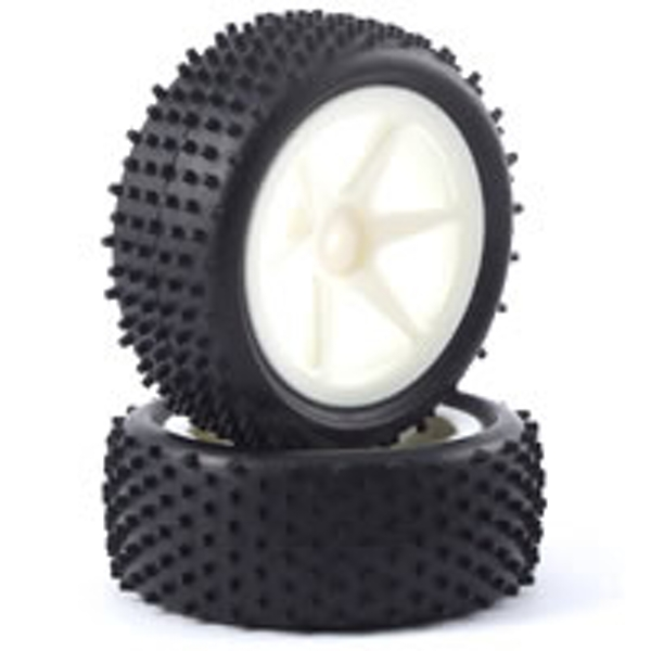 Fastrax 1/10Th Mounted Buggy Tyres Lp 'Stub' Front (Spoked)