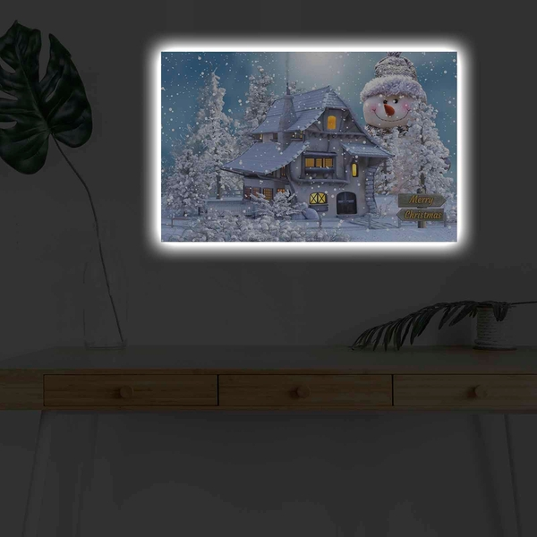 4570KARDACT - 011 Multicolor Decorative Led Lighted Canvas Painting