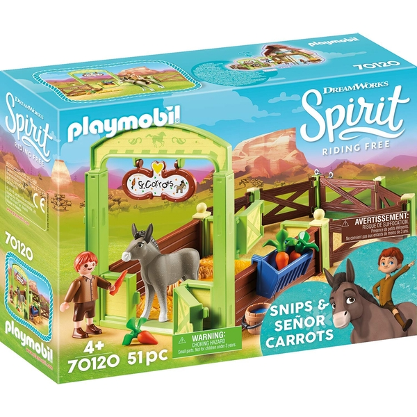 Playmobil DreamWorks Spirit Horse Box  - Snips & Senor Carrots
