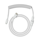 Glorious PC Gaming Race Coiled Cable Ghost White USB-C to USB-A Braided - 1.37m White (GLO-CBL-COI