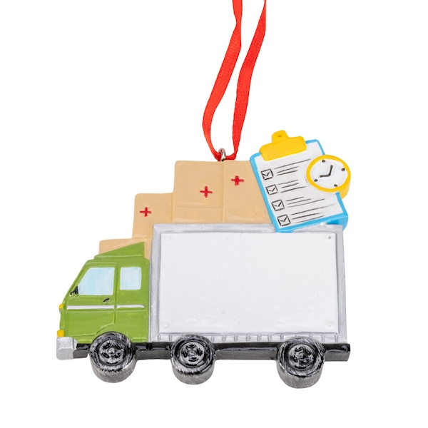 Personalisable Delivery Driver Ornament