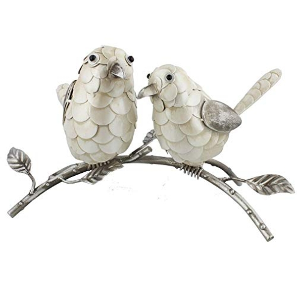 Country Living Hand Painted Metal Pair of Birds 17.5cm