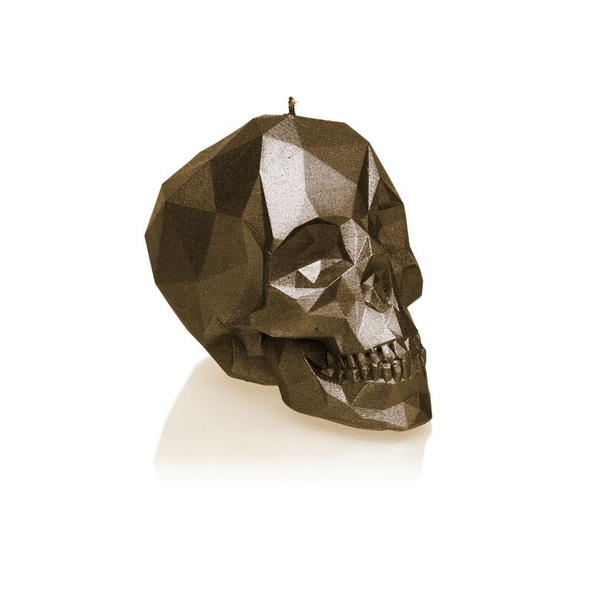 Brass Large Low Poly Skull