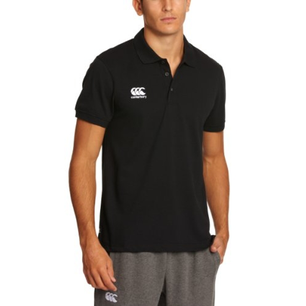 Canterbury Men's Waimak Polo T-Shirt, Black, Large
