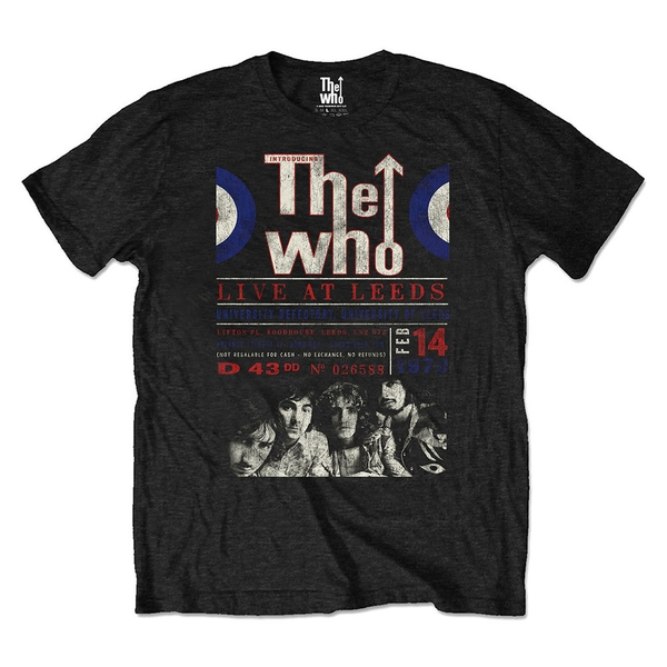 The Who - Live At Leeds '70 Unisex Small T-Shirt - Black