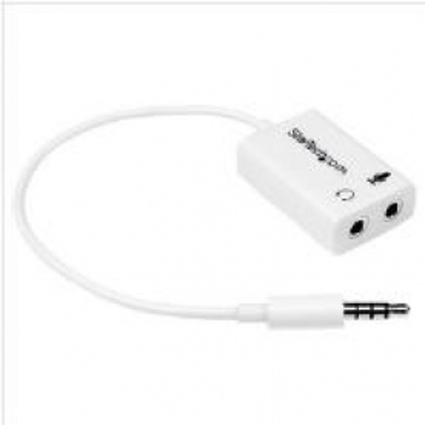 Headset Splitter Adapter White