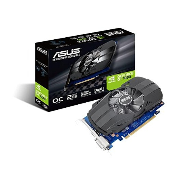 Asus NVIDIA Geforce PH-GT1030-O2G GDDR5 64 Bit Memory PCI Express Graphics Card - Black