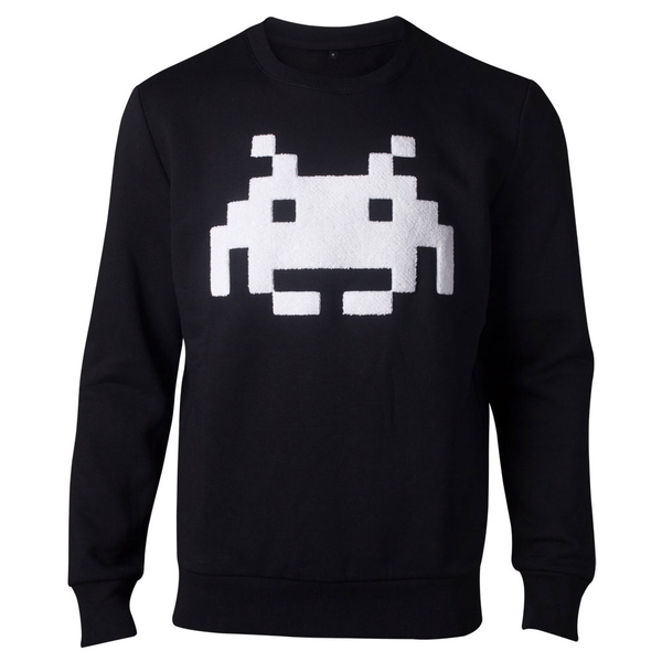 Space Invaders - Chenille Invaders Men's Large Sweater - Black