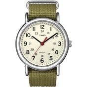 Timex T2N651 Unisex Weekender Watch with Olive Fabric Strap