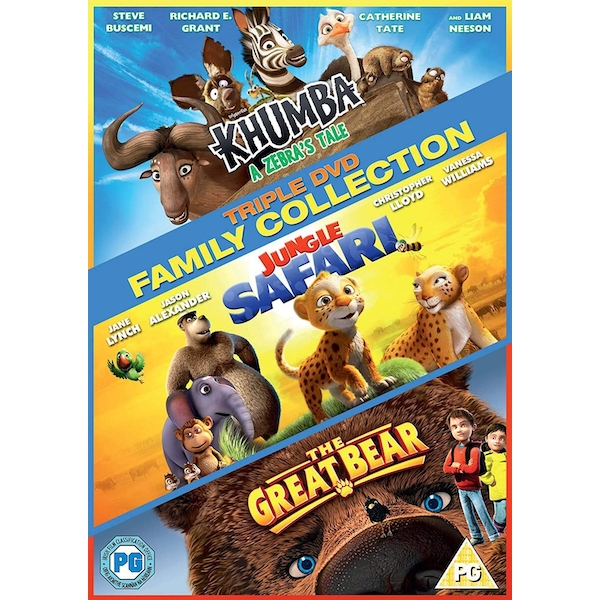 Triple Family Collection - Khumba / Jungle Safari / The Great Bear DVD