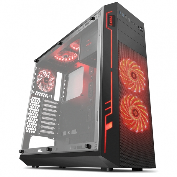 Sama Ark Black Case with RGB Front Top & Rear Fans with Integrated RGB