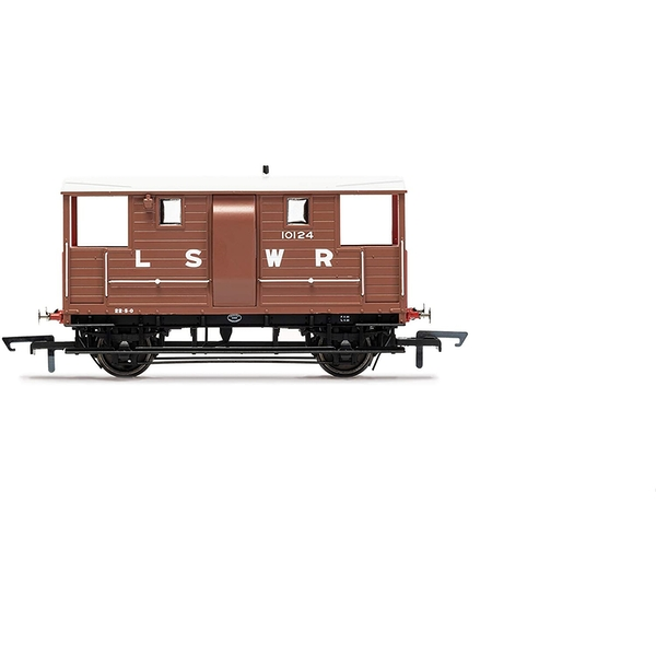 Hornby LSWR, 20T 'New Van' Goods Brake Van, 10124 - Era 2 Model Train