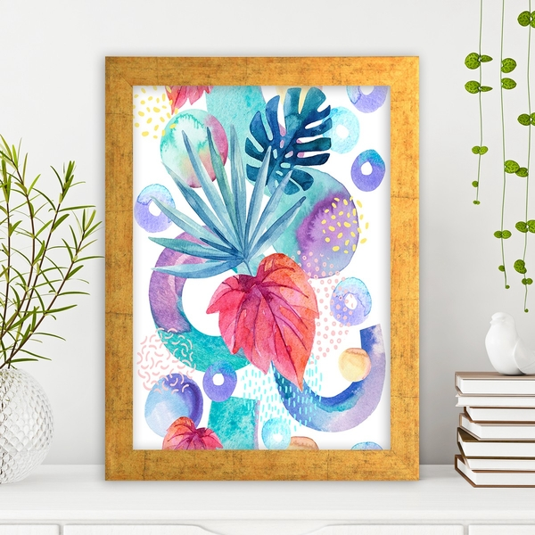 AC1036766047 Multicolor Decorative Framed MDF Painting