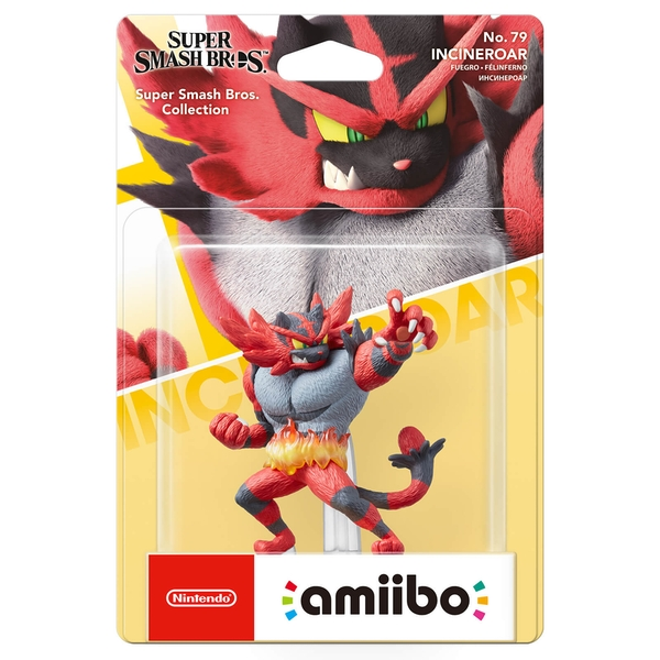Incineroar Amiibo No 79 (Super Smash Bros Ultimate) for Nintendo Switch & 3DS