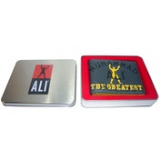 Muhammad Ali Grey Marl Wallet in Tin