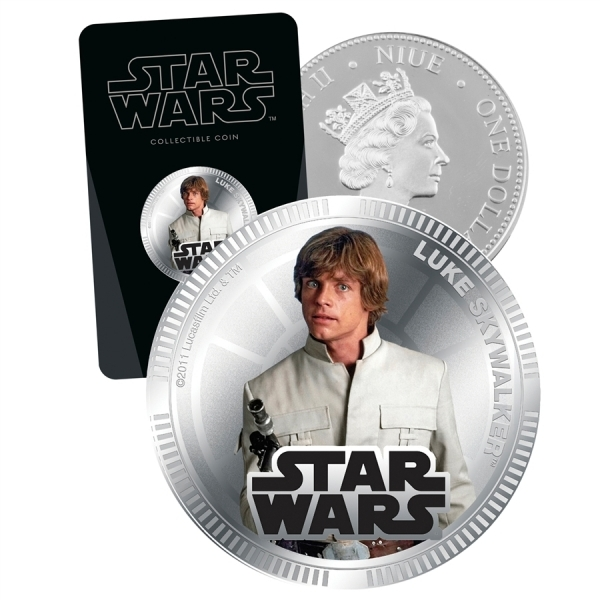 Star Wars Luke Silver Plated Collectable Coin