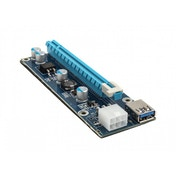 Kolink PCI-E 1x to 16x powered Riser Card Mining  Rendering Kit Pro 1m