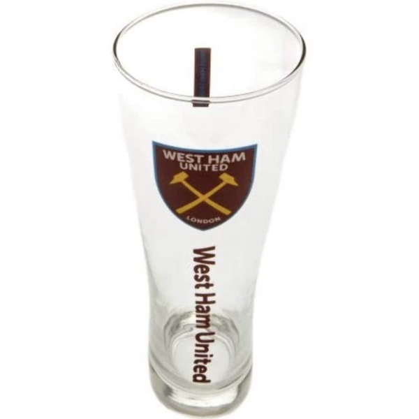 West Ham United FC Tall Beer Glass