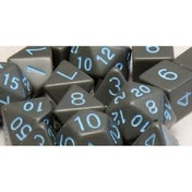 Role 4 Initiative - Translucent Black/Light Blue Poly 15 Set Dice