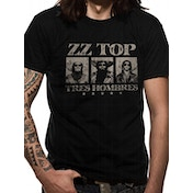 Zz Top - Tres Hombres Men's Large T-Shirt - Black