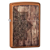 Zippo Wood Mandala Design Toffee Regular Windproof Lighter