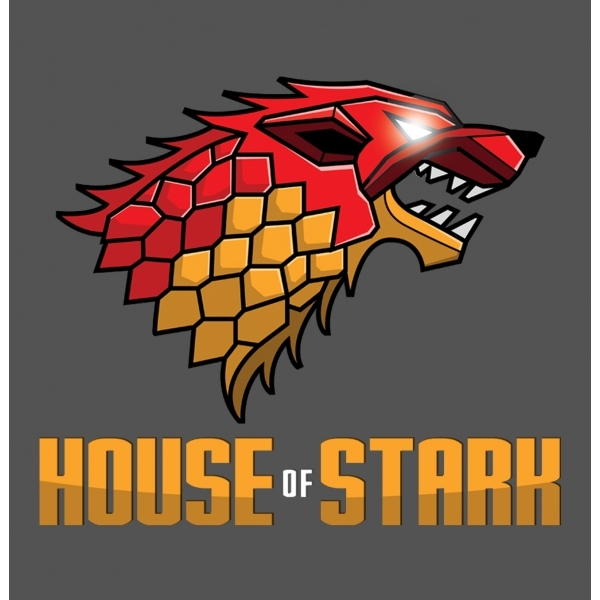 Game of Thrones House of Stark Dark Grey T-Shirt Large ZT - Image 2
