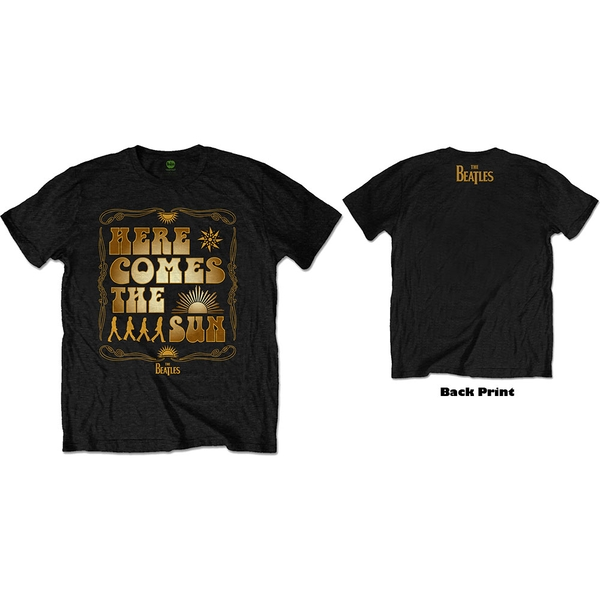 The Beatles - Here Comes The Sun Unisex Large T-Shirt - Black