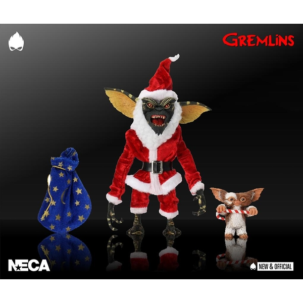 Santa Stripe and Gizmo (Gremlins) 7 Inch Neca Action Figure