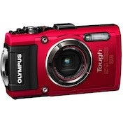 Olympus TG-4 Tough Camera Red 16MP 4xZoom 3.0LCD FHD 25mm Wide Wtprf 15m