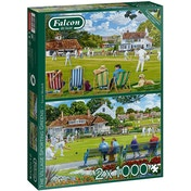 Falcon de luxe The Village Sporting Greens 2-Pack Jigsaw Puzzle - 1000 Pieces