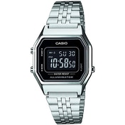 Casio LA680WEA/1B Unisex Chronograph Digital Watch Black Dial Silver