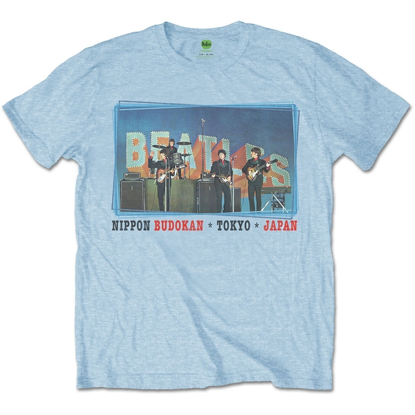 The Beatles - Nippon Budokan Men's Large T-Shirt - Blue