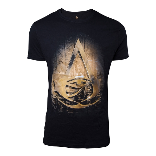 756154c2 Hey! Stay with us... Assassin's Creed Origins - Hieroglyph Crest Men's  Small T-Shirt - Black