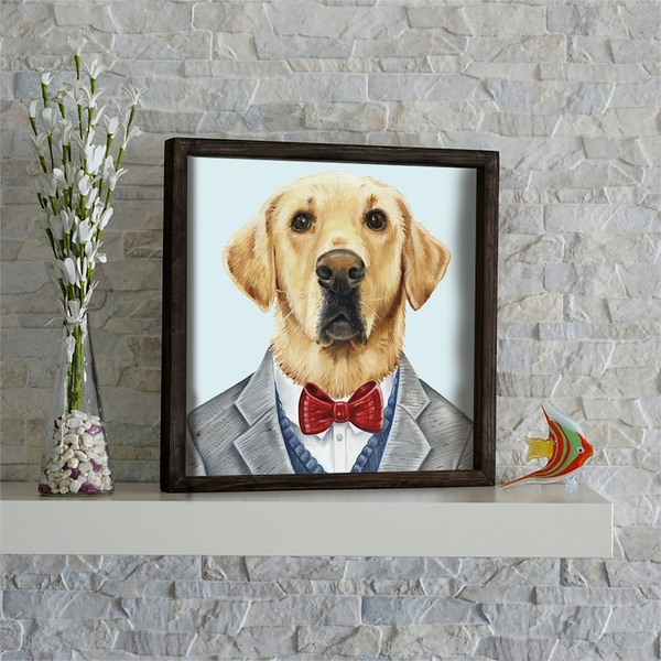 KZM608 Multicolor Decorative Framed MDF Painting