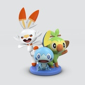 Pokemon Grookey, Scorbunny and Sobble Mini Figurine