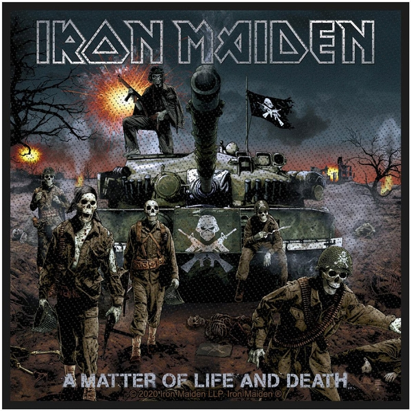 Iron Maiden - A Matter Of Life And Death Standard Patch