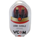 VCOM USB 2.0 A (M) to USB 2.0 A (M) 1.8m Black Retail Packaged Data Cable - Image 2