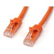 StarTech Orange Gigabit Snagless RJ45 UTP Cat6 Patch Cable Patch Cord 1m