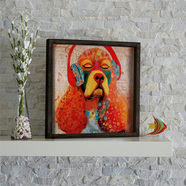 KZM490 Multicolor Decorative Framed MDF Painting