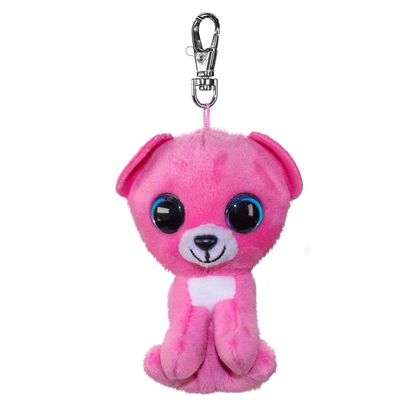Lumo Stars Mini Keyring - Bear Raspberry Plush Toy