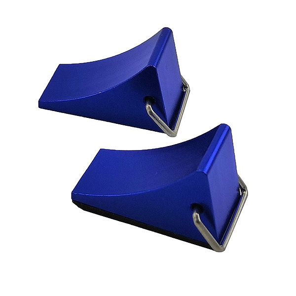 Fastrax Wheel Chock Set (2Pc) - Blue