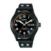 Lorus RL461AX9 Mens Black Dial Automatic Watch with Black Leather Strap