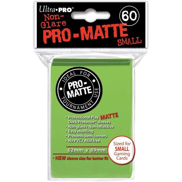 Ultra Pro Lime Green Matte Small Deck Protectors - 60 Cards