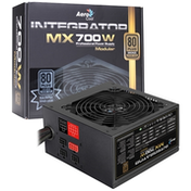 Aerocool Integrator MX Series 700W 120mm Thermal Control Silent Fan 80 PLUS Silver Semi Modular PSU UK Plug