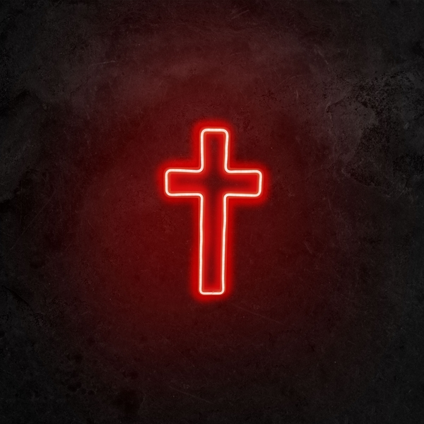 Cross Sign - Red Red Wall Lamp