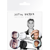 Justin Bieber  Mix 3 Badge Pack