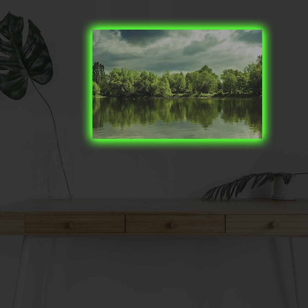 4570DHDACT-123 Multicolor Decorative Led Lighted Canvas Painting