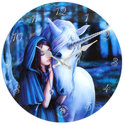Solace Glass Wall Clock by Anne Stokes