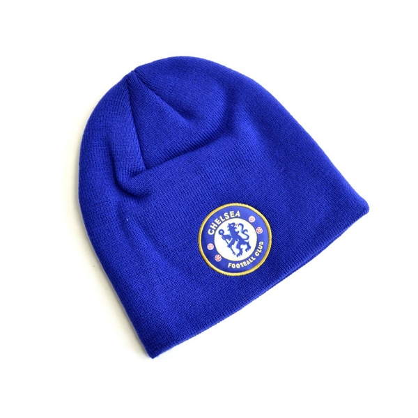 Chelsea Knitted Crest Beanie Royal Blue